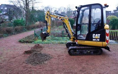 Bodenprobe-Entnahme auf den Wegen in unserer Kleingartenanlage (1x aktualisiert)